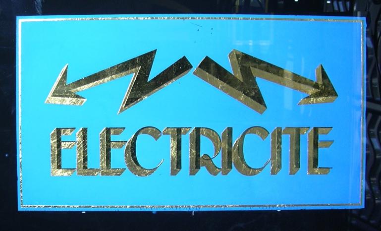 """Zoom sur le panneau """"Electricité"""""""