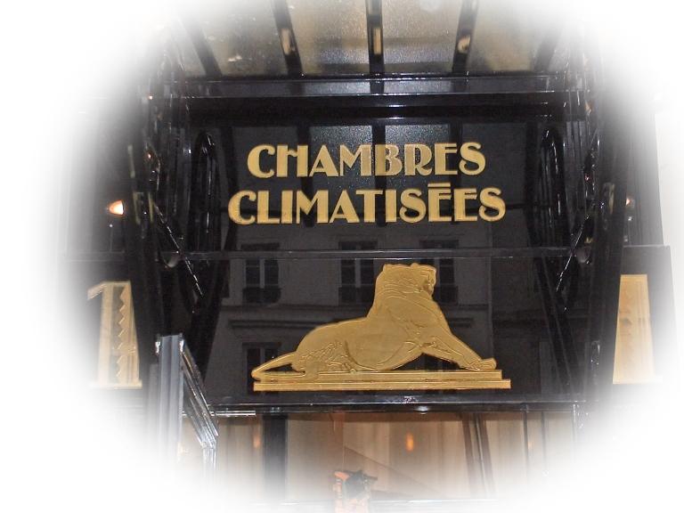 """Zoom sur le panneau """"Chambres climtisées"""""""