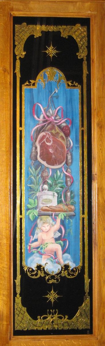 Panneau décoratif Ange et Jambon