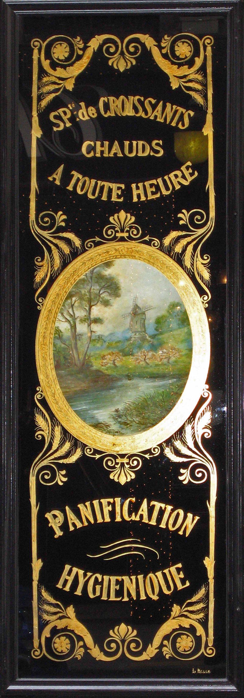 Panneau décoratif feuille d'or panification hygiènique