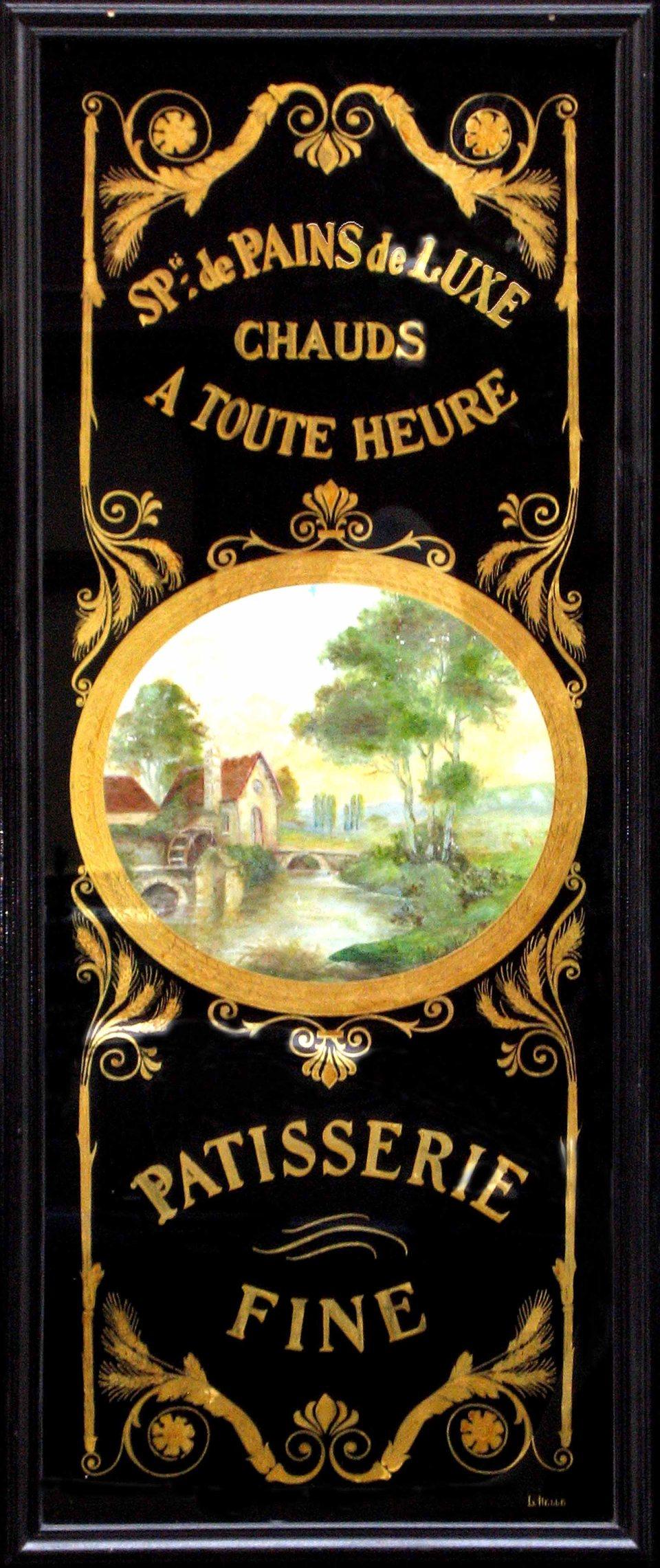 Panneau décoratif feuille d'or patisserie fine