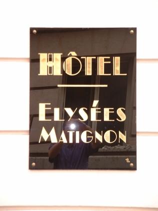 Hôtel Elysées Matignon Feuille d'or sur verre