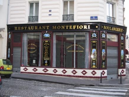"Façade gauche du restaurant ""Montefiori"""