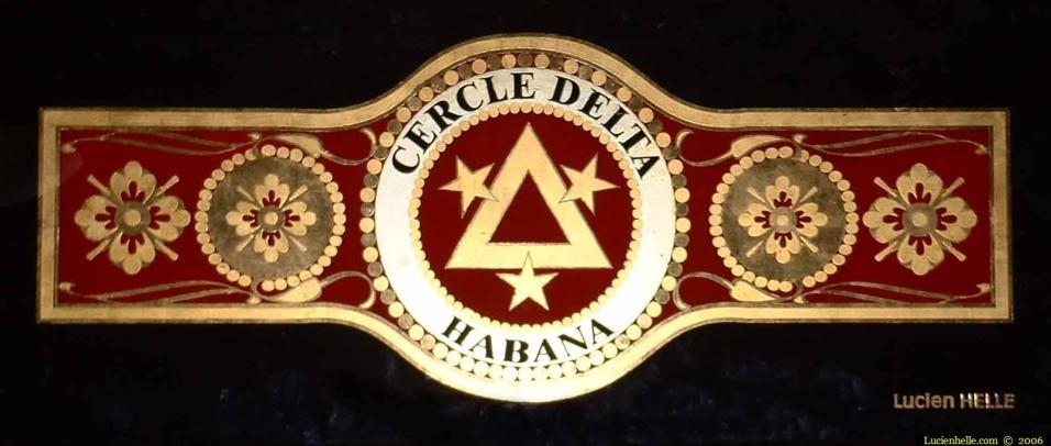 Logo type bague de cigare habana en feuille d'or