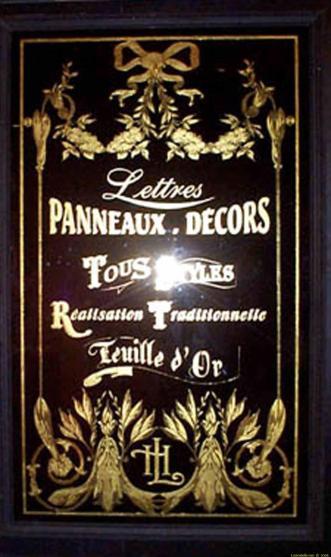 panneau décor feuille d'or sur verre tous-styles