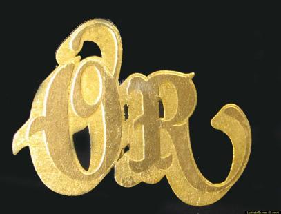 panneau lettres en or