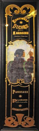 panneau peintre 18ème siècle