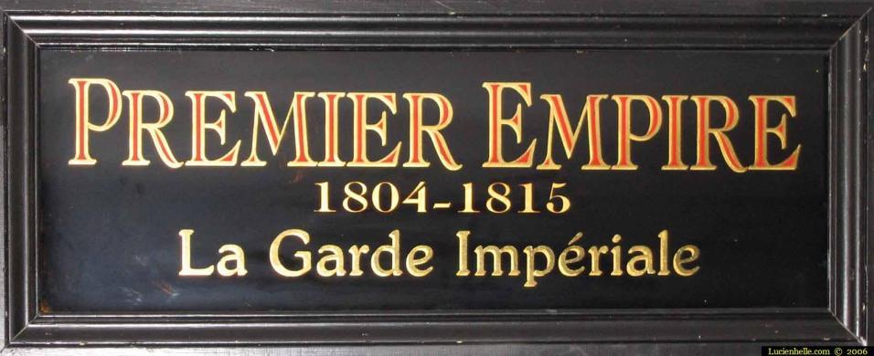 panneau pour exposition premier empire aux invalides