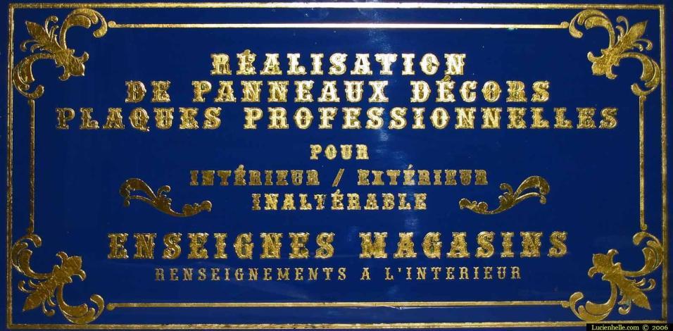 panneau réalisations plaques professionnelles