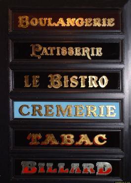 panneaux cremerie boulangerie patisserie bistro tabac billard