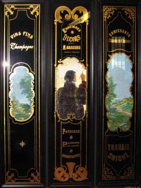 panneaux décors champagne croissants chauds