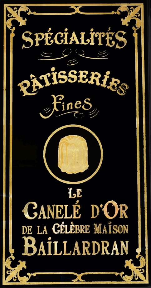 "Panneau décoratif ""le canelé Baillardran"" Café Bellini"
