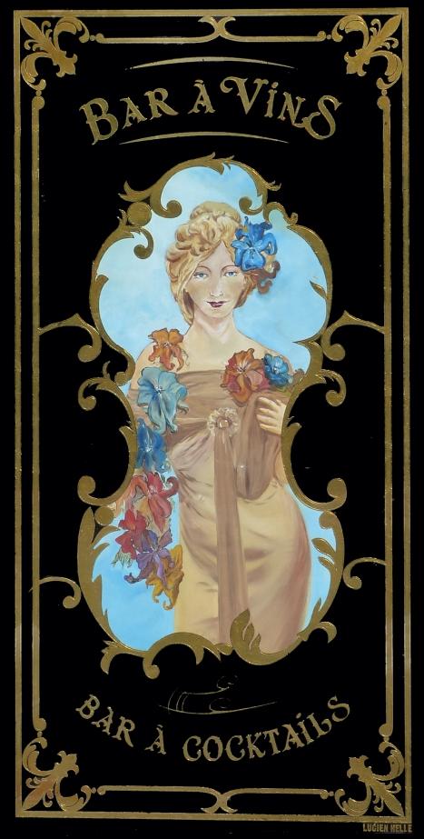 """Panneau décoratif Café Bellini """"bar a vins"""""""