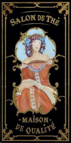 """Panneau décoratif Café Bellini """"salon de thé"""""""