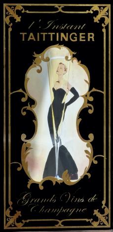 """Panneau décoratif Café Bellini """"l'instant Champagne Taittinger"""""""