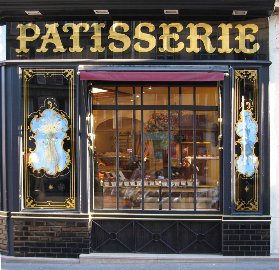 """Enseigne Bandeau """"Patisserie"""" rue de Rennes Paris"""