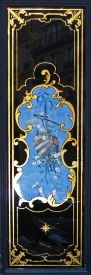 Boulangerie 81 rue de Rennes Paris : Panneau décoratif avec toile peinte