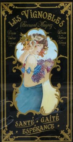 """Panneau décoratif """"Bernard Magrez"""" Café Bellini"""