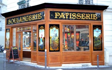 Vue de côté de la boulangerie-pâtisserie rue d'Alésia