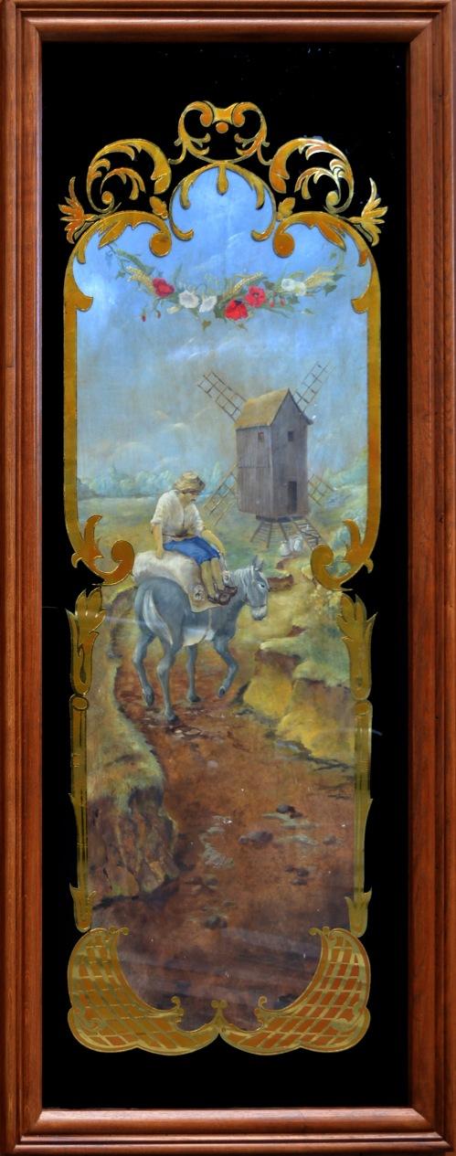 Boulangerie Vabret - panneau moulin a vent et paysan sur ane