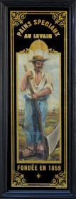 Panneau décoratif paysan avec faux rue de Saintonge